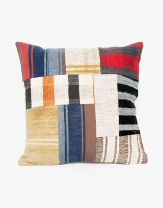 Handwoven Vintage Kilim Patchwork Pillow