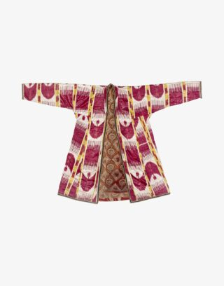 Central Asian Uzbek Ikat Chapan Robe