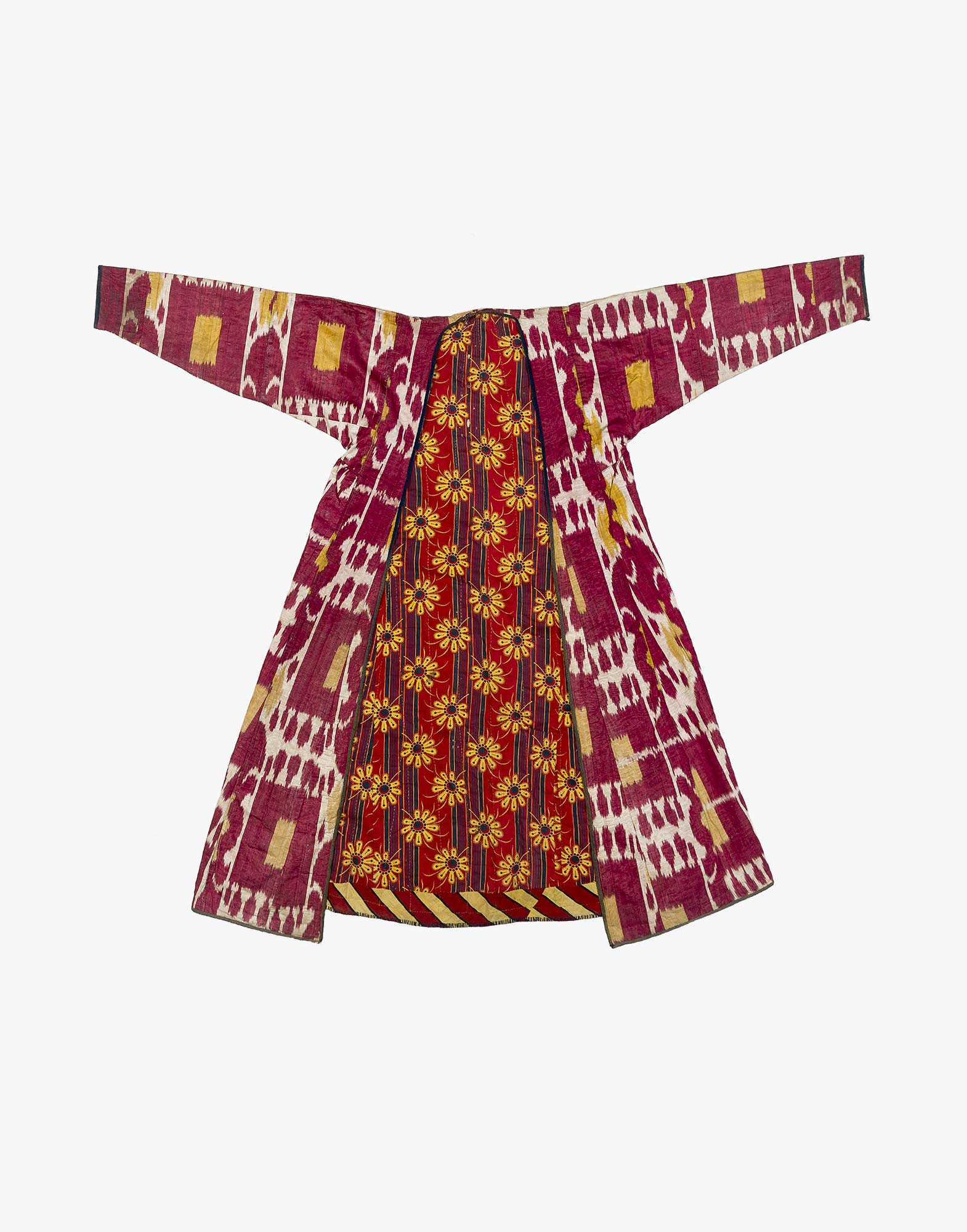 Uzbek Asian Central Chapan Ikat Robe OTwPulkXZi