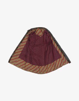 Central Asian Uzbek Silk Chirpi Kaftan Robe