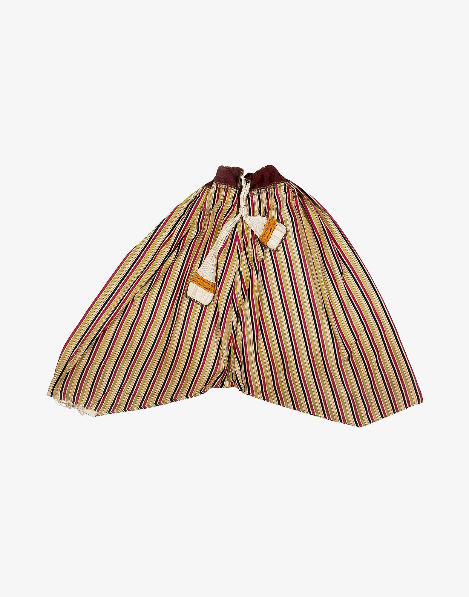 North West Anatolian Silk Ottoman Era Baggy Pants Shalwar