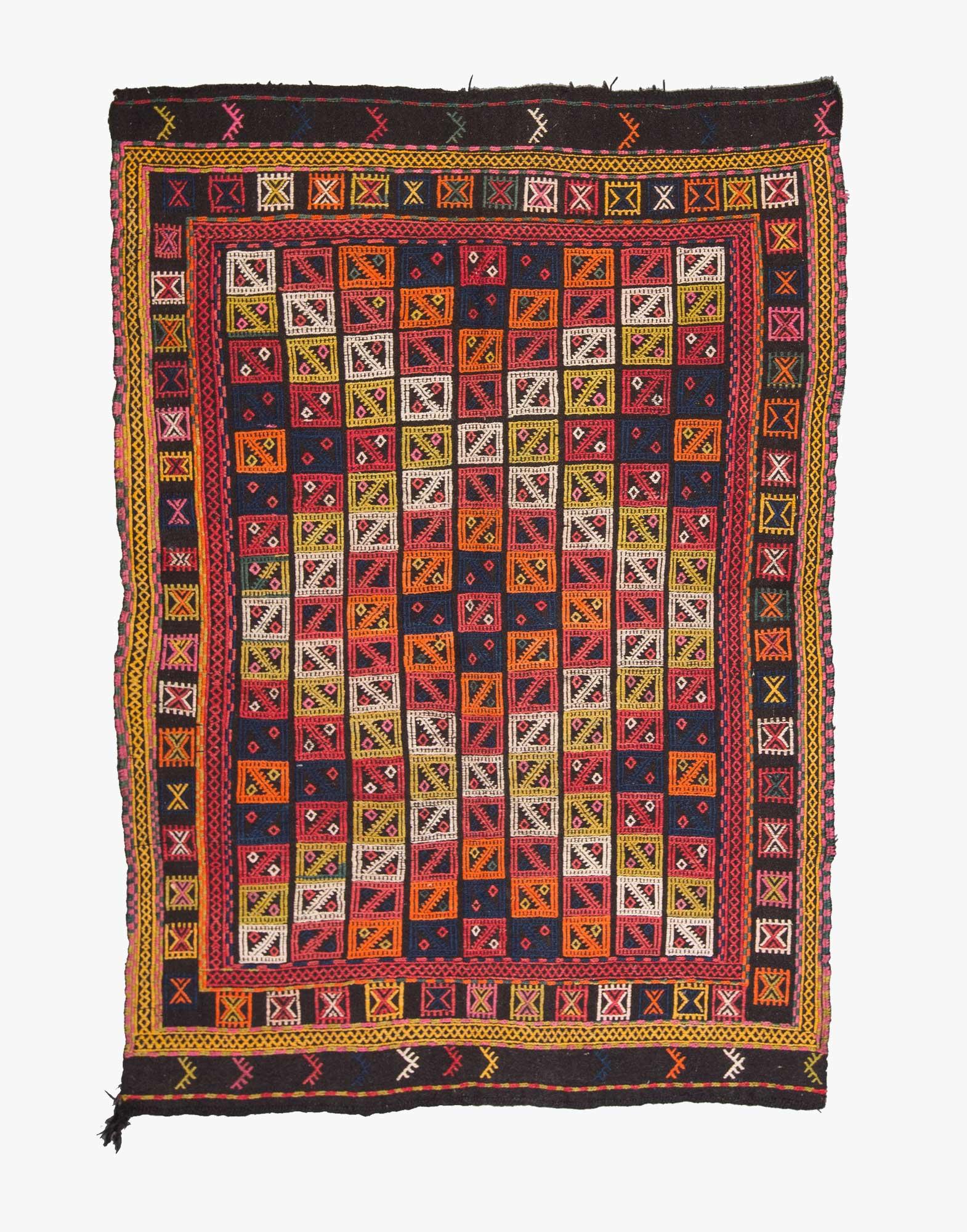 Bergama Cicim Embroidered Kilim