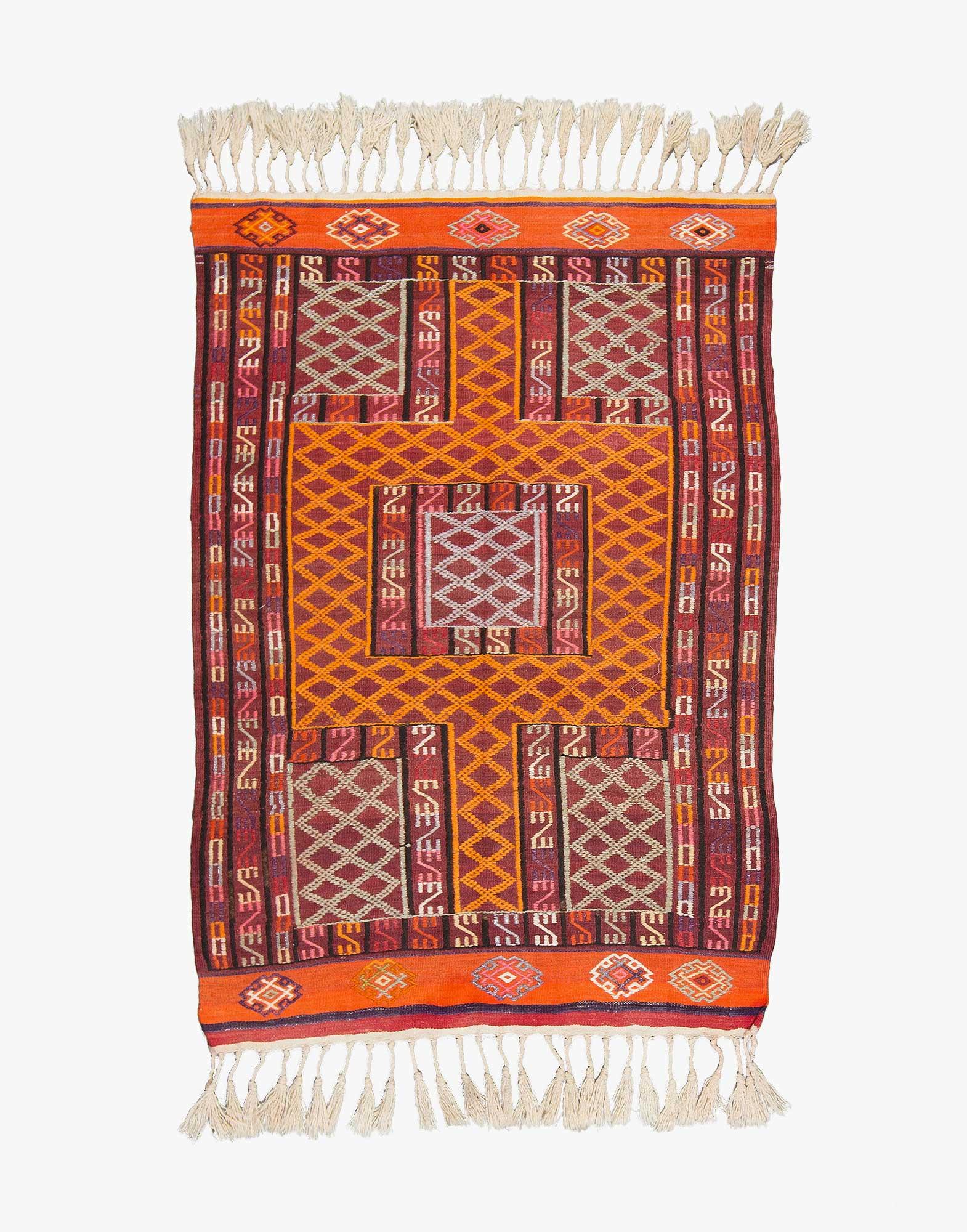 Fethiye Cicim Embroidered Kilim
