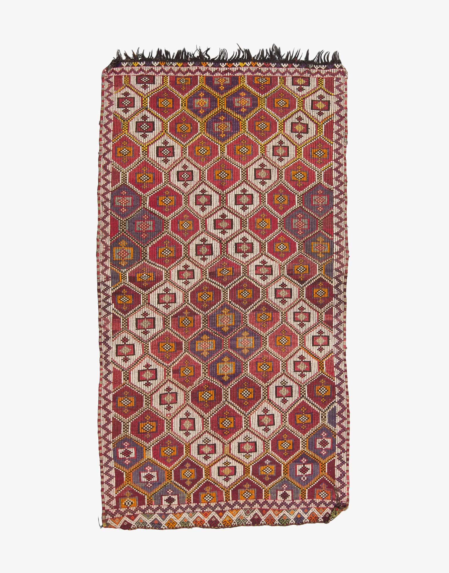 Konya Cicim Embroidered Kilim