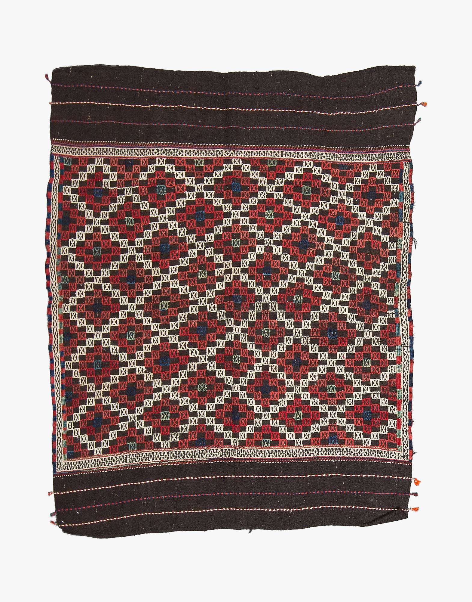 Bergama Zili Embroidered Kilim