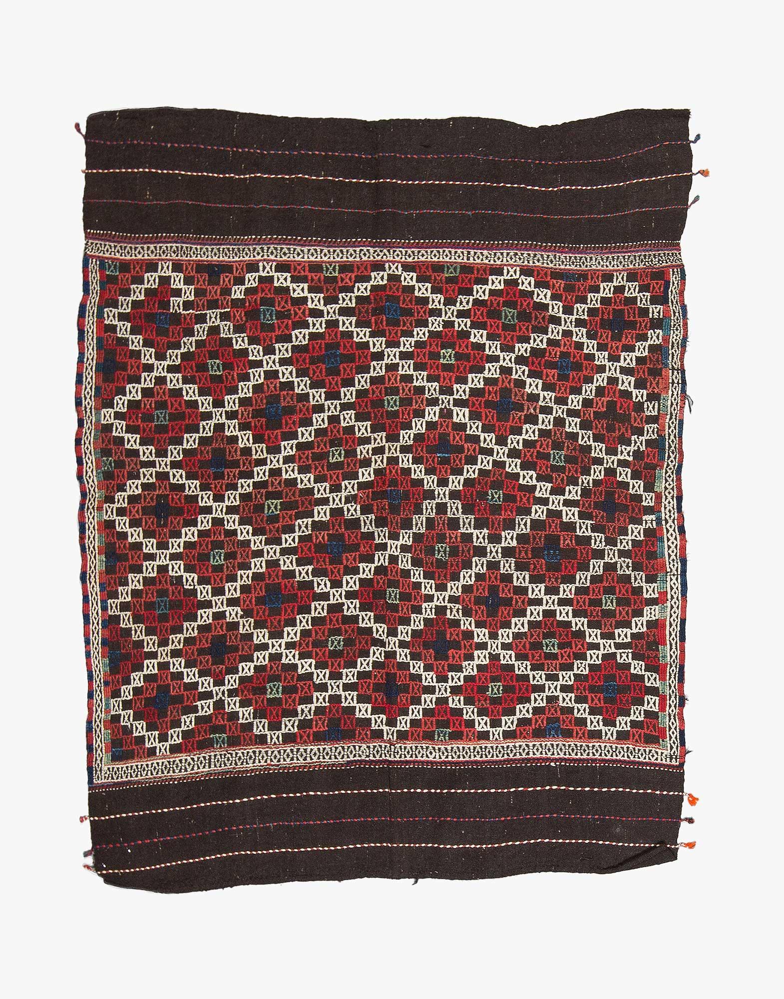 Bergama Zili Embroidered Kilim