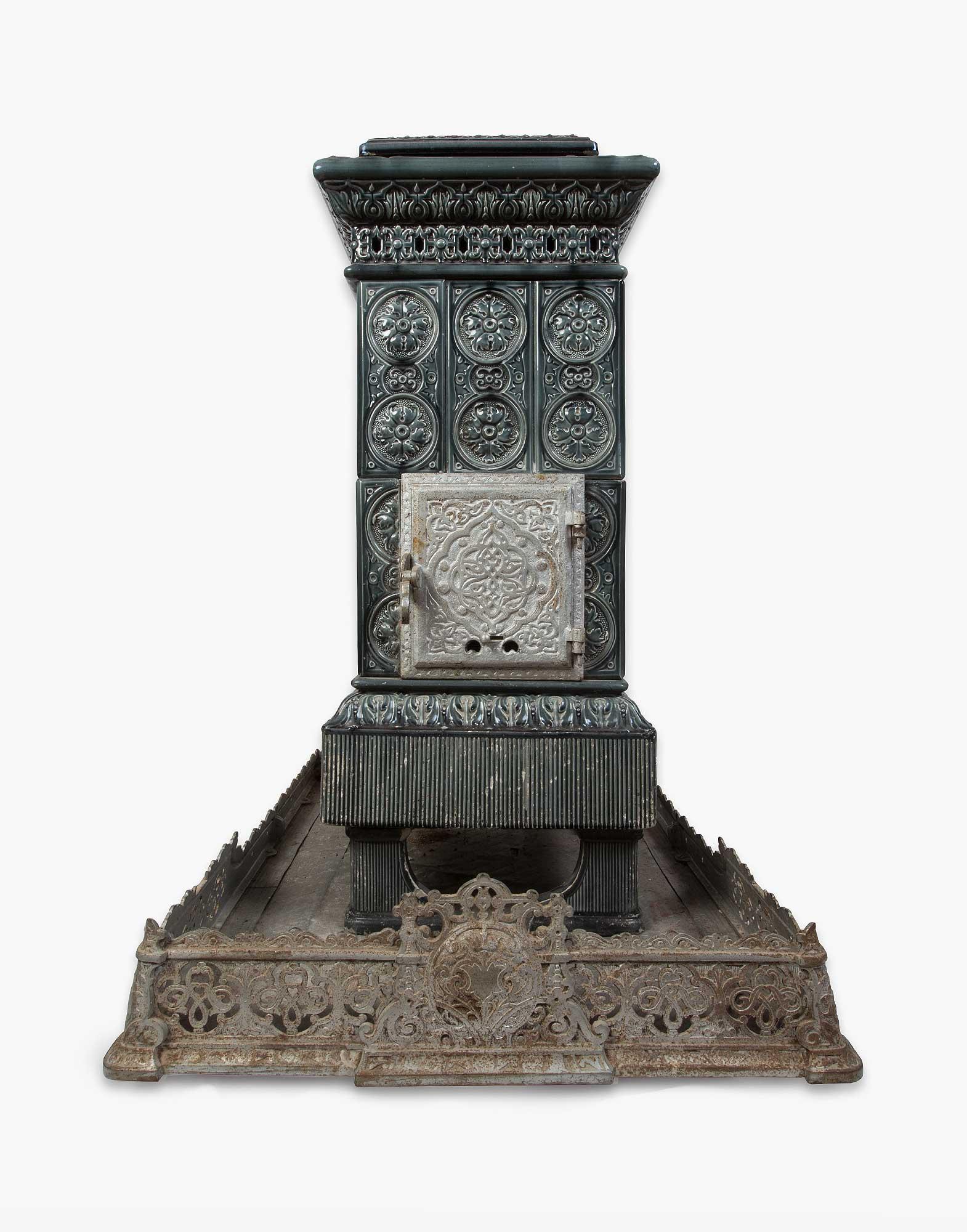 Antique French Ceramic Stove