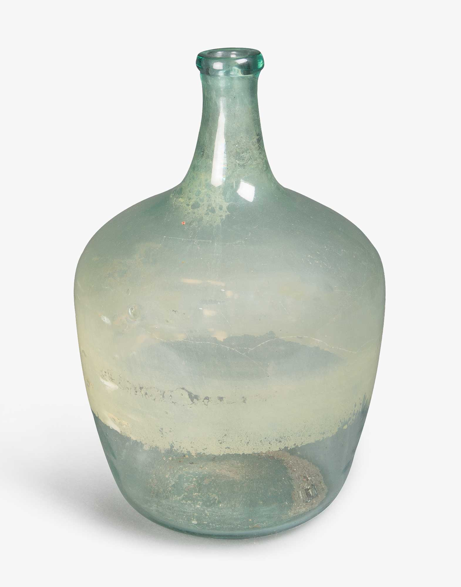 Antique Glass Olive Oil Bottle