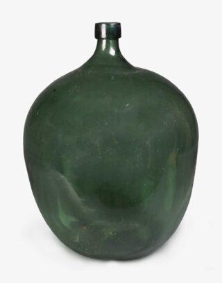 Antique Glass Olive Oil Bottle