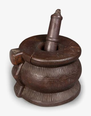 Antique Handmade Wooden Mortar