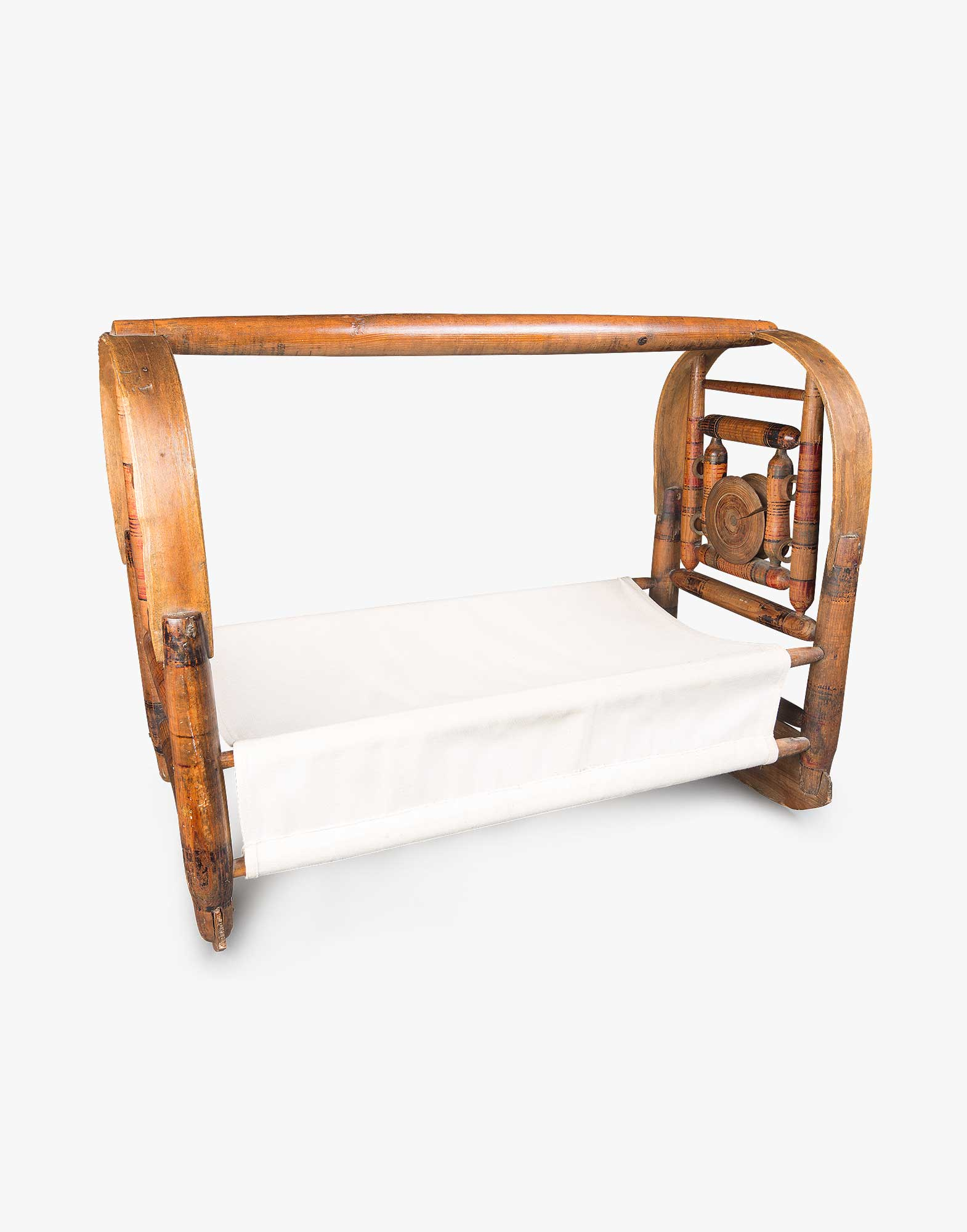 Handmade Wooden Baby Cradle