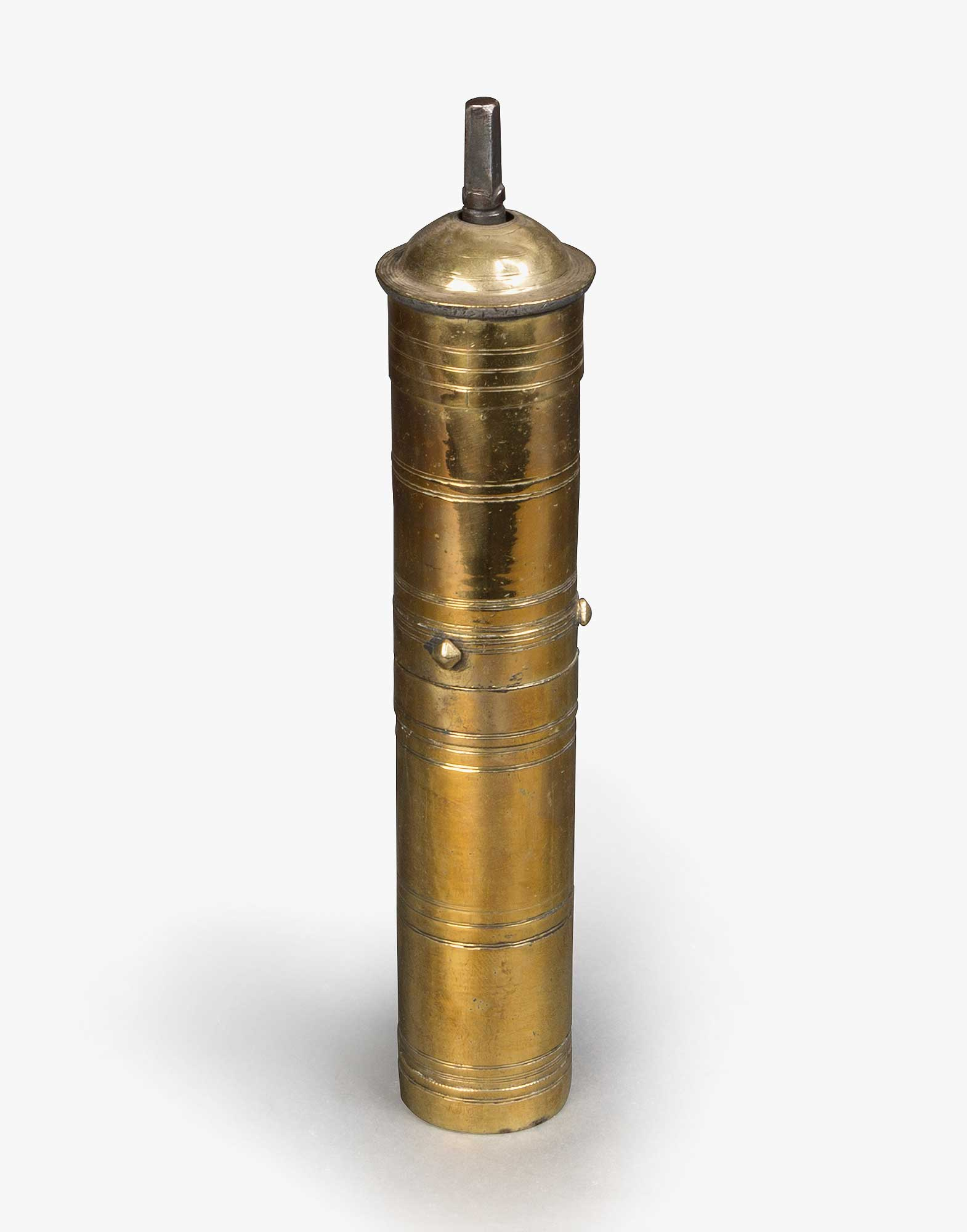 Traditional Ottoman Brass Coffee Grinder