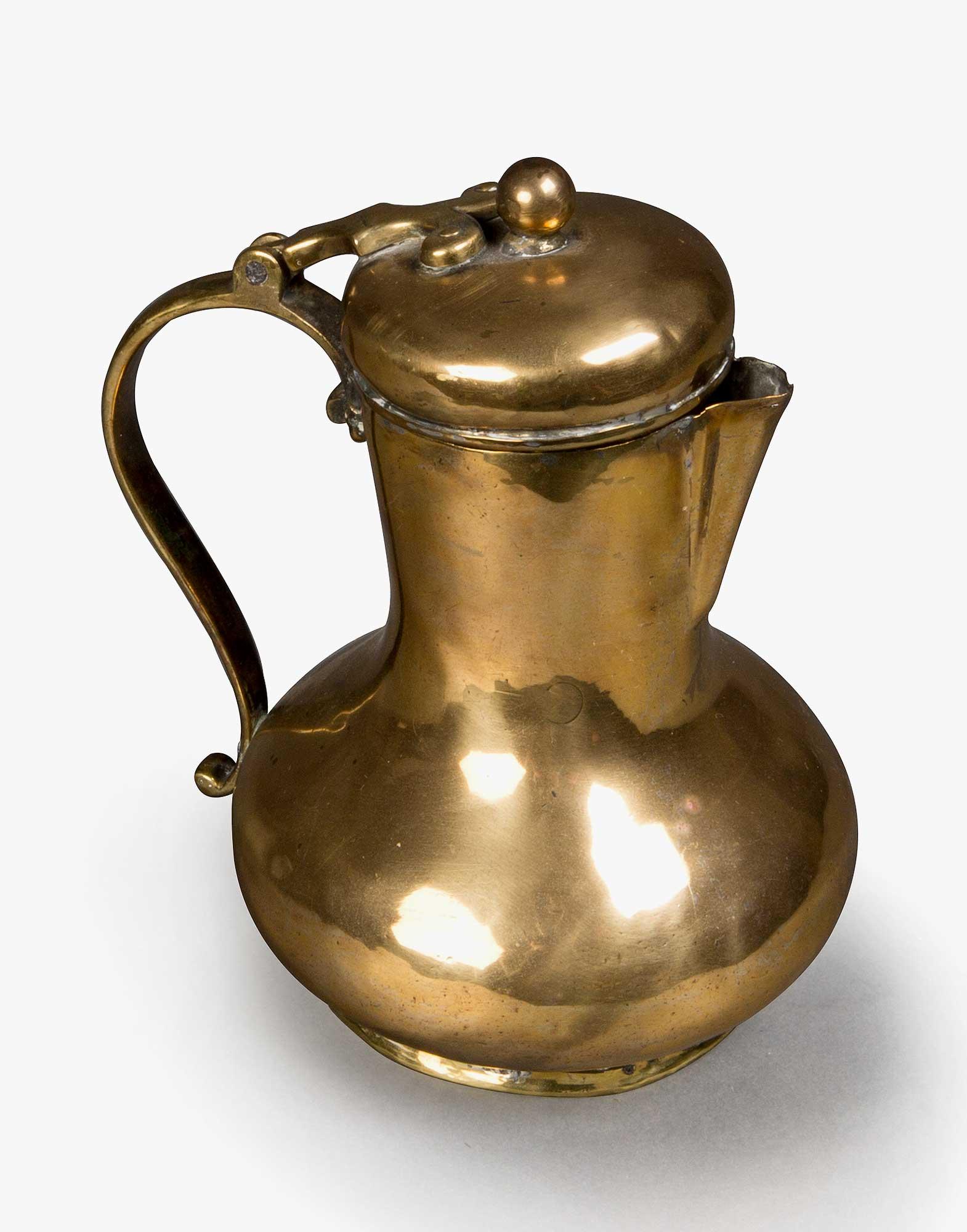 Traditional Ottoman Brass Pitcher