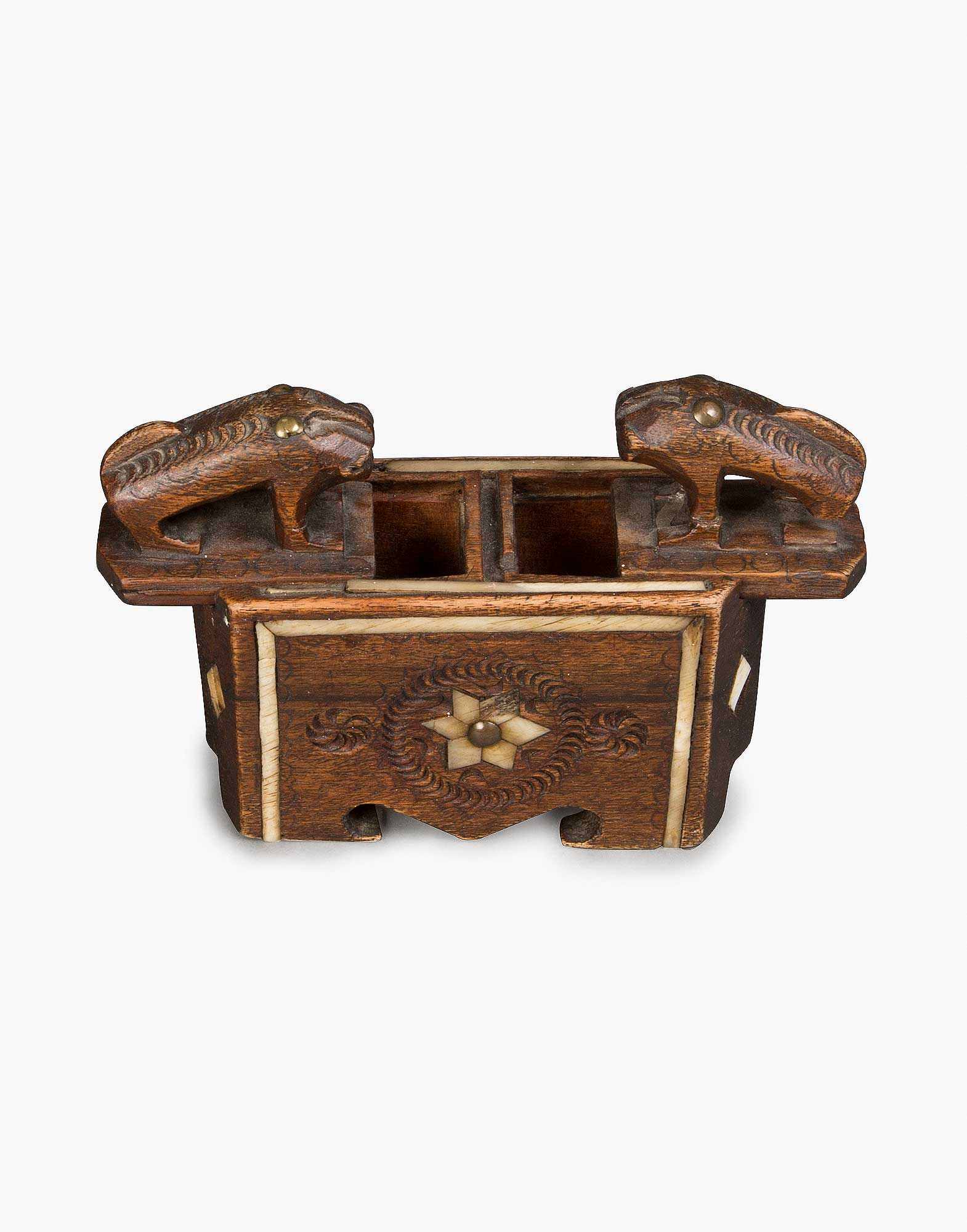 Traditional Wooden Spice Box