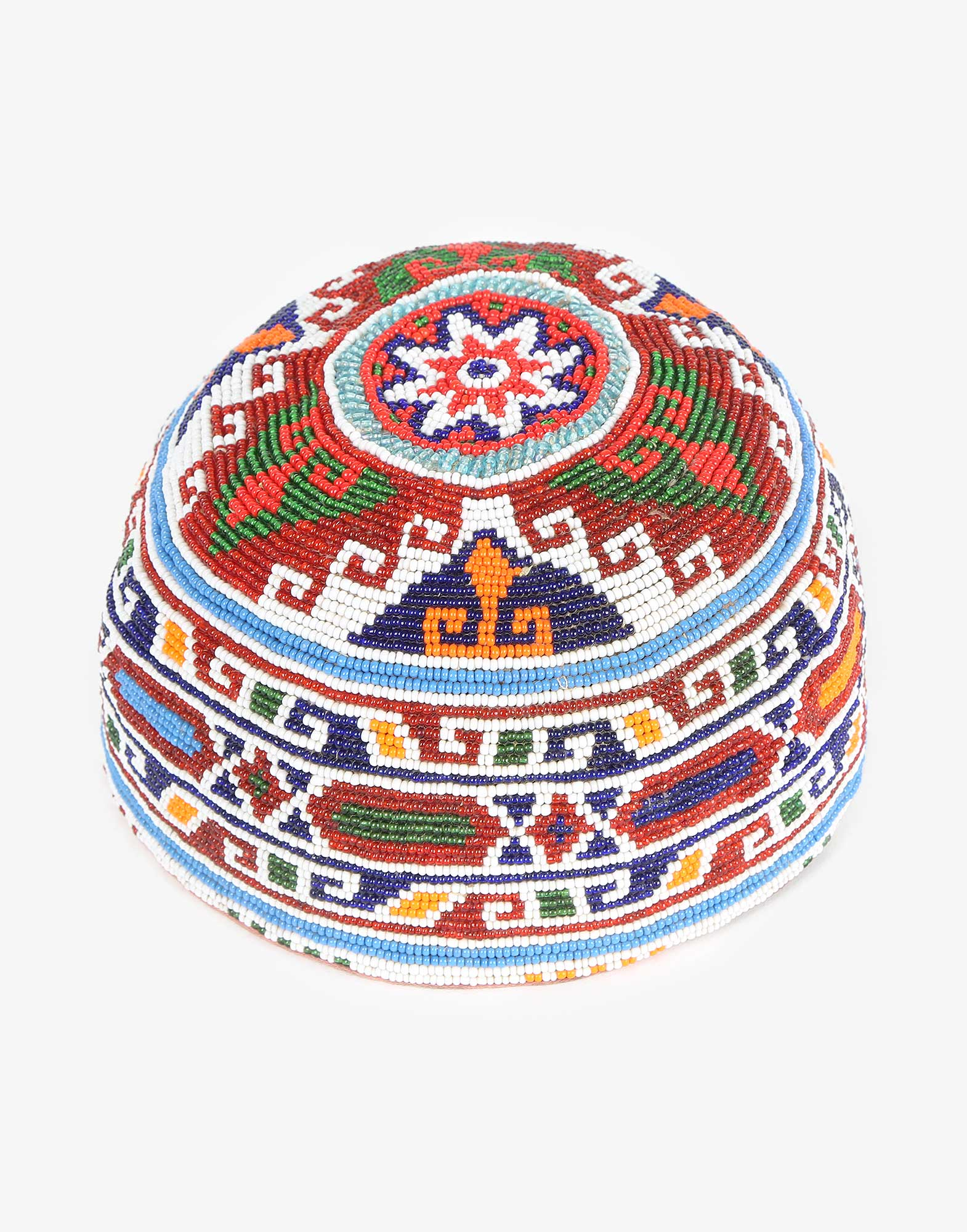 Vintage Beaded Uzbek Headwear