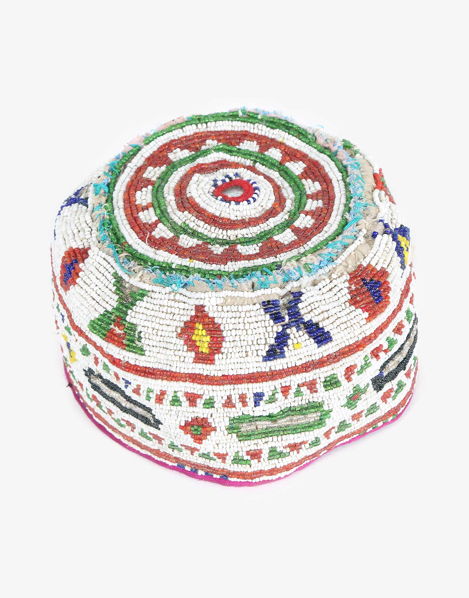 Vintage Beaded Uzbek Headwear