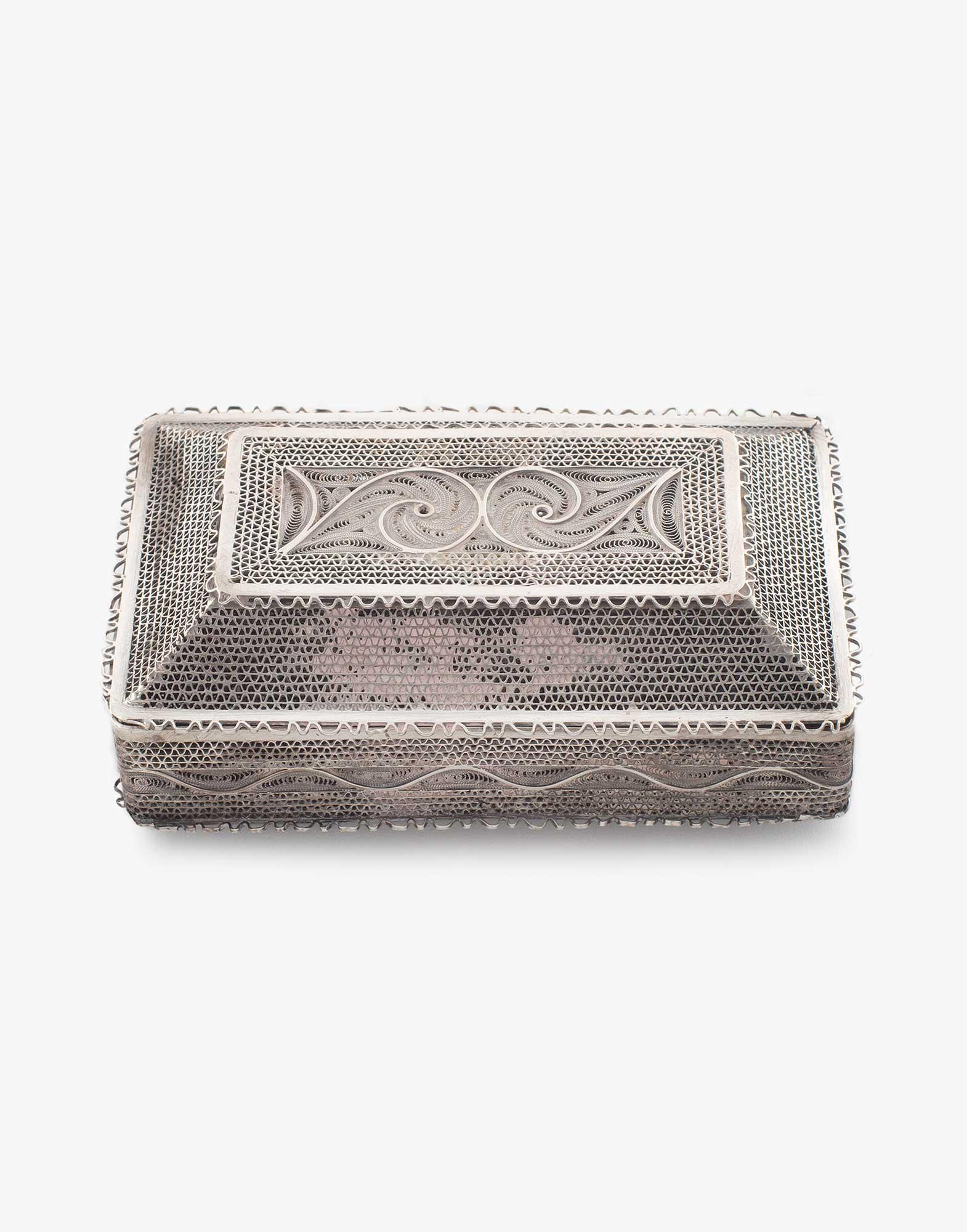 Traditional Silver Cigarette Box