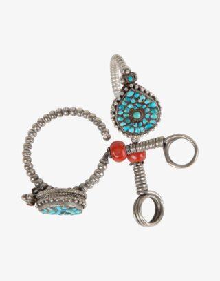 Antique Ladakh Silver Earrings