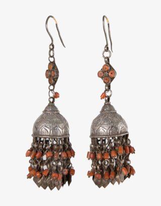 Antique Turkmen Silver Earrings