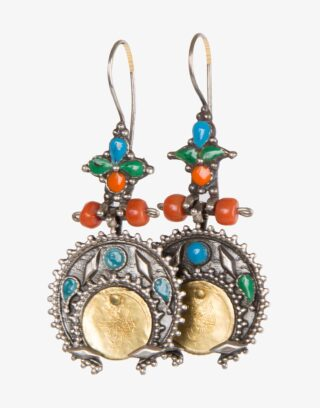 Traditional Ottoman Silver Earrings