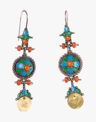 Traditional Ottoman Silver Earrings