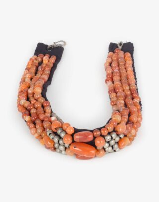 Vintage Agate Beaded Necklace