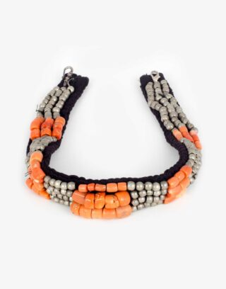 Vintage Coral Beaded Necklace