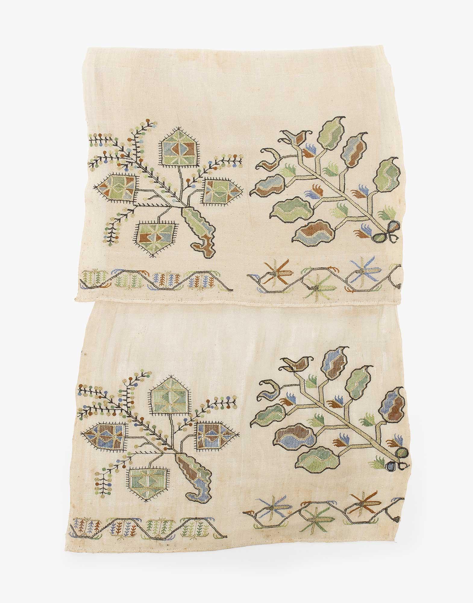 Ottoman Embroidered Makrama Hand Towel