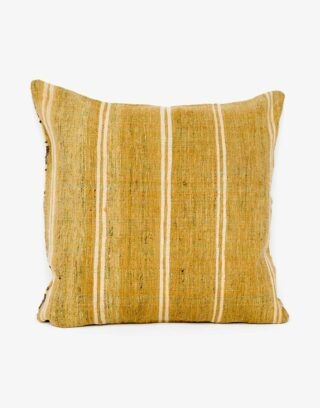 Handwoven Vintage Kilim and Ikat Patchwork Pillow
