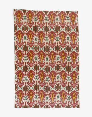 Central Asian Uzbek Ikat Panel
