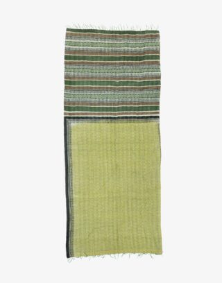 Vintage Colorful West Bengal Kantha Embroidery