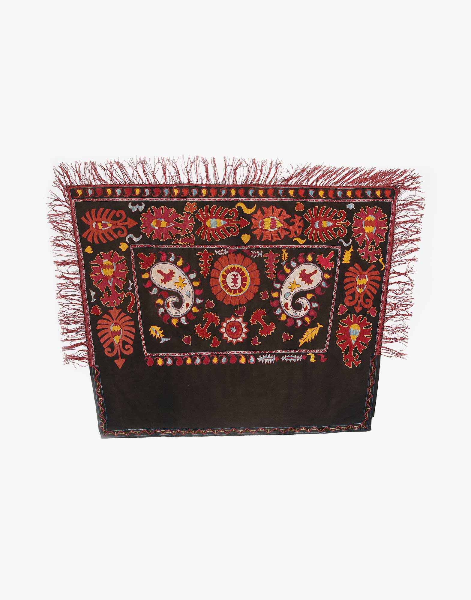 Uzbek Suzani Embroidered Silk Horse Cover
