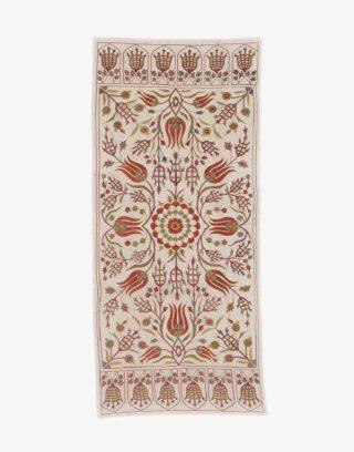 Uzbek Suzani Embroidered Silk Textile
