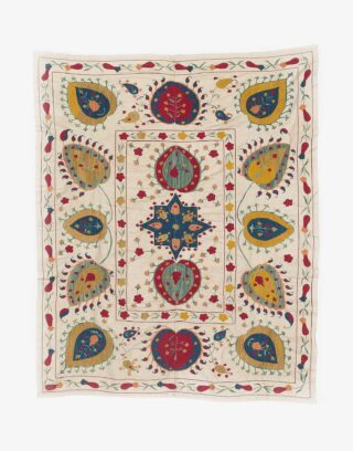 Uzbek Suzani Embroidered Wall Hanging