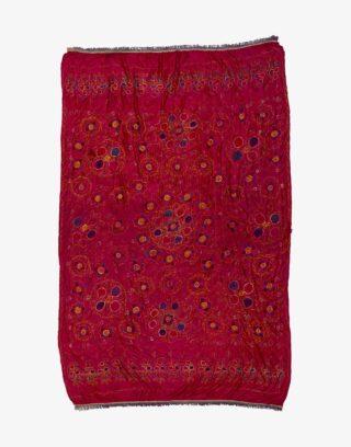 Vintage Uzbek Suzani Bed Cover